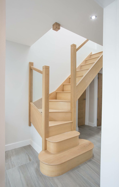 House 2 Modern Corridor, Hallway and Staircase by Whitshaw Builders LTD Modern Wood Wood effect