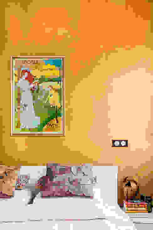 غرفة نوم تنفيذ Ayuko Studio , إستعماري
