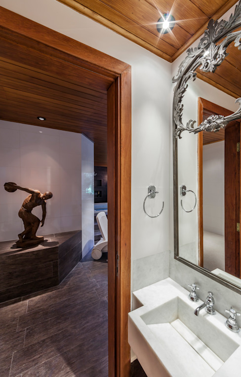 Kamar Mandi Gaya Rustic Oleh VNK Arquitetura e Interiores Rustic