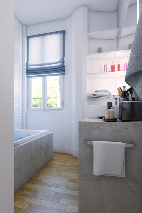 Modern Bathroom by Agence KP Modern Concrete