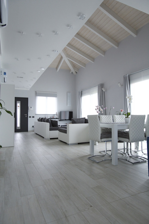 Casa B • Wood house Elisabetta Goso >architect & 3d visualizer< Soggiorno in stile scandinavo