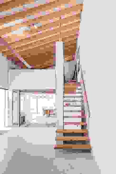 Pasillos, halls y escaleras rústicos de munarq Rústico