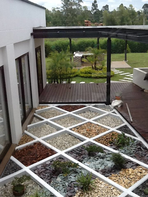 Andrés Hincapíe Arquitectos A H A Vườn phong cách hiện đại