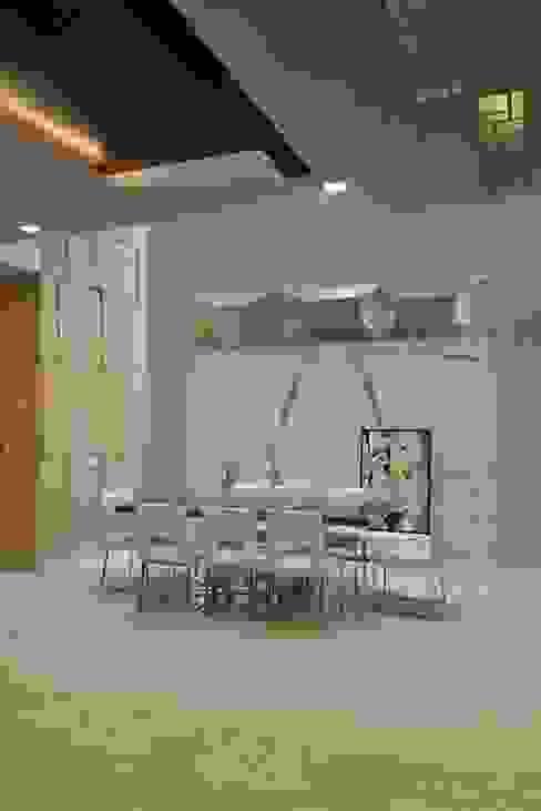 GAJENDRA YADAV'S RESIDENCE Modern dining room by Spaces Architects@ka Modern
