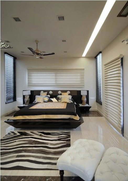 JAIPUR HOUSE Modern style bedroom by Spaces Architects@ka Modern