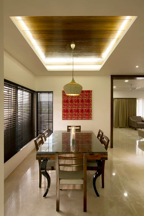 Sandeep Gandhi Bungalow Modern dining room by P & D Associates Modern