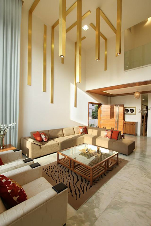 Mr.Rajan's Bungalow P & D Associates Modern living room