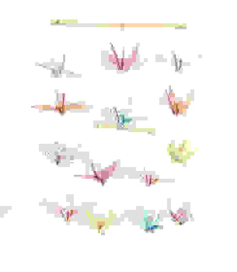 Mobile en origami 14 grues par Papierelief Classique