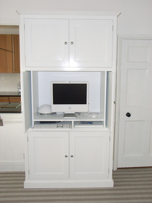 Period Computer Cabinet showing storage Modern Media Room by Style Within Modern