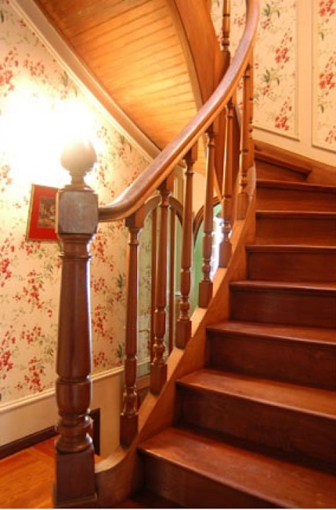 Interiores, escaleras Radrizzani Rioja Arquitectos Eclectic style corridor, hallway & stairs Wood Brown