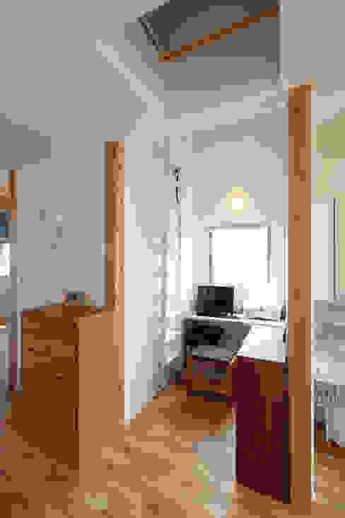 Projekty,  Domowe biuro i gabinet zaprojektowane przez nano Architects, Nowoczesny Drewno O efekcie drewna