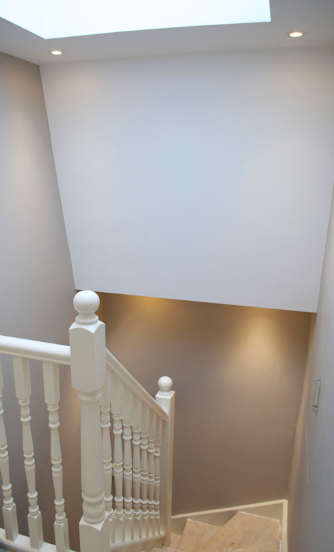 The West London conversion Modern corridor, hallway & stairs by The Market Design & Build Modern
