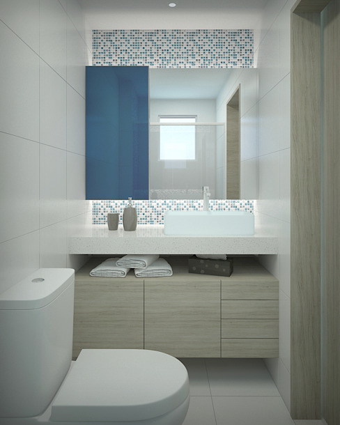 Bathroom by studio vtx, Modern