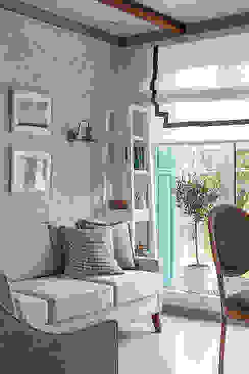 Mediterranean style Ekaterina Kozlova Living roomSofas & armchairs Textile Turquoise