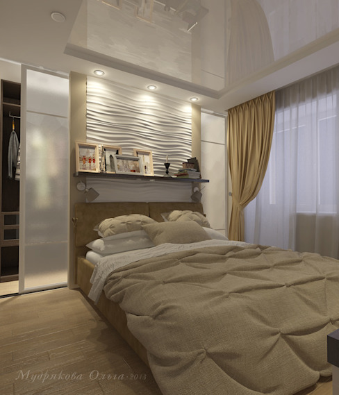 Design interior OLGA MUDRYAKOVA의  침실, 클래식