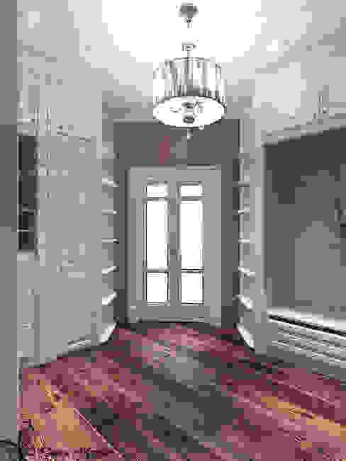 Проект спальни с гардеробной в частном коттедже: Гардеробные в . Автор – Your royal design,