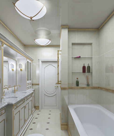 homify Classic style bathroom White