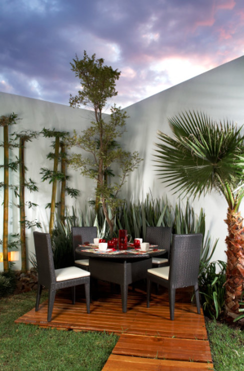arketipo-taller de arquitectura Modern balcony, veranda & terrace