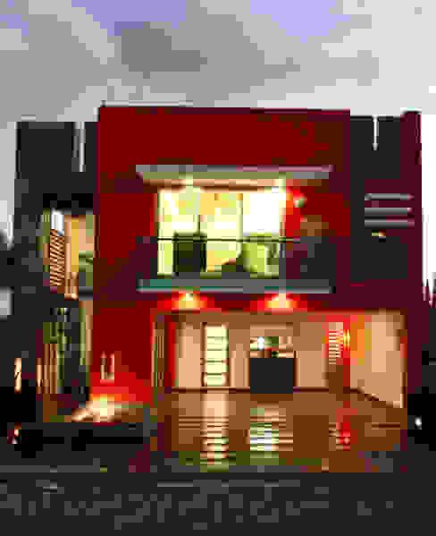 fachada principal arketipo-taller de arquitectura Casas estilo moderno: ideas, arquitectura e imágenes