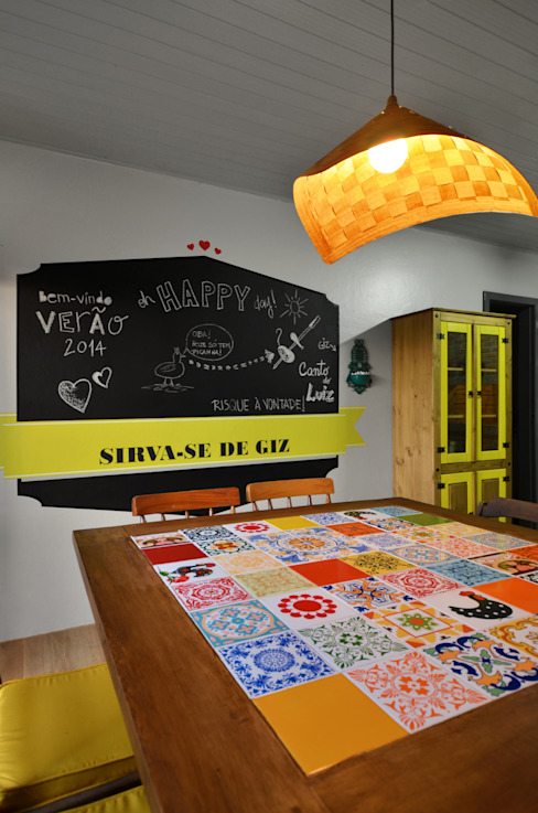 Tropical style dining room by Arquitetando ideias Tropical