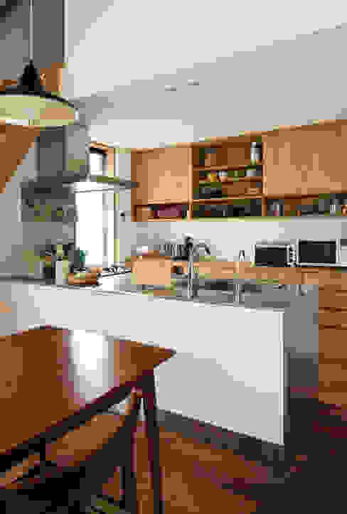 藤森大作建築設計事務所 Cocinas de estilo moderno Blanco