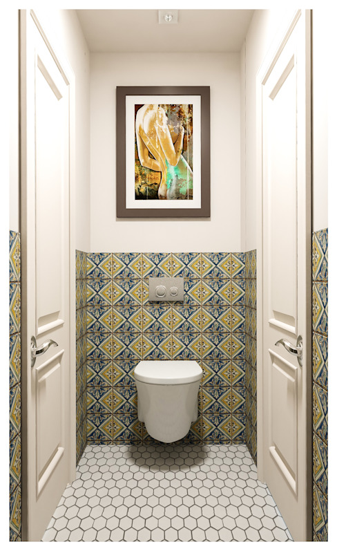 3-bedroom Apartment, Moscow Classic style bathroom by Alexander Krivov Classic