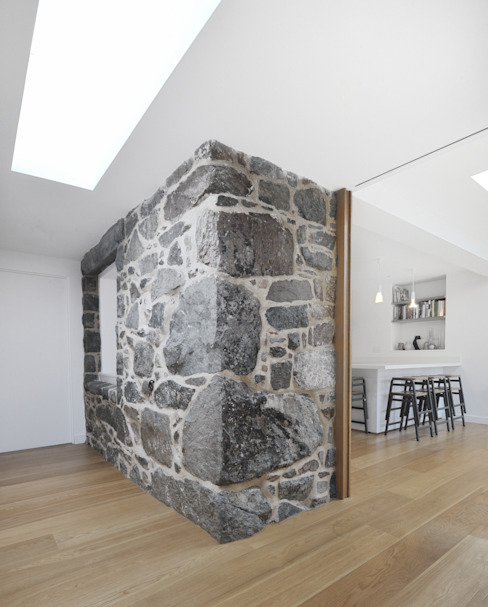 Jardin Des Buttes Rustic style walls & floors by JAMIE FALLA ARCHITECTURE Rustic