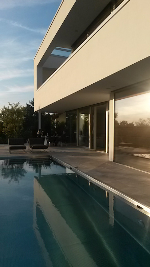 Modern pool by Diemer Architekten Part. mbB Modern Limestone