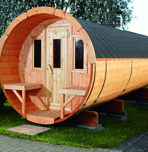 Projekty,  Spa zaprojektowane przez Gartenhaus2000 GmbH, Skandynawski