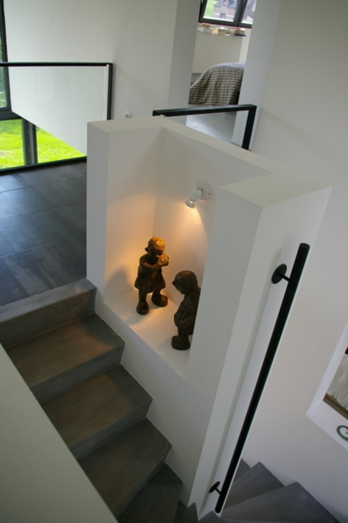 Minimalist corridor, hallway & stairs by ARTERRA Minimalist Concrete