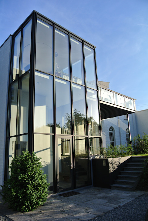 Tour vitrée Maisons minimalistes par ARTERRA Minimaliste Fer / Acier