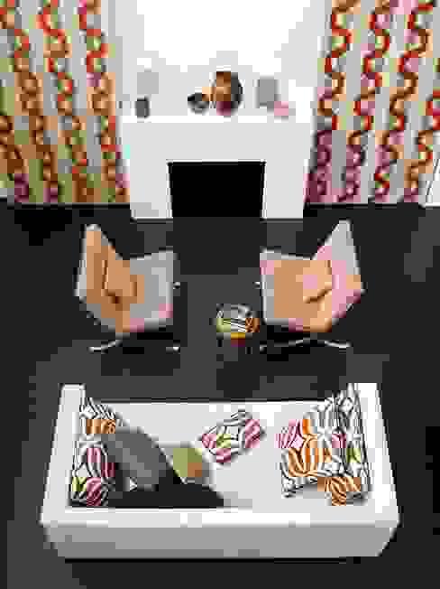 por Emporio del Tessuto Moderno Têxtil Ambar/dourado