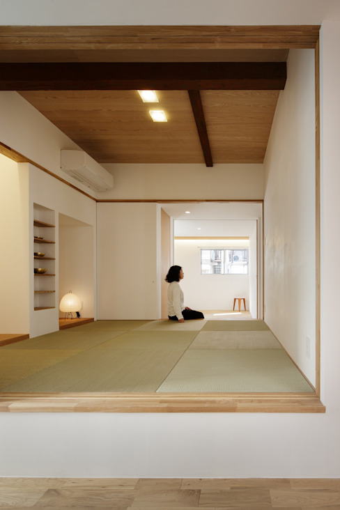Projekty,  Sypialnia zaprojektowane przez アトリエ スピノザ, Azjatycki