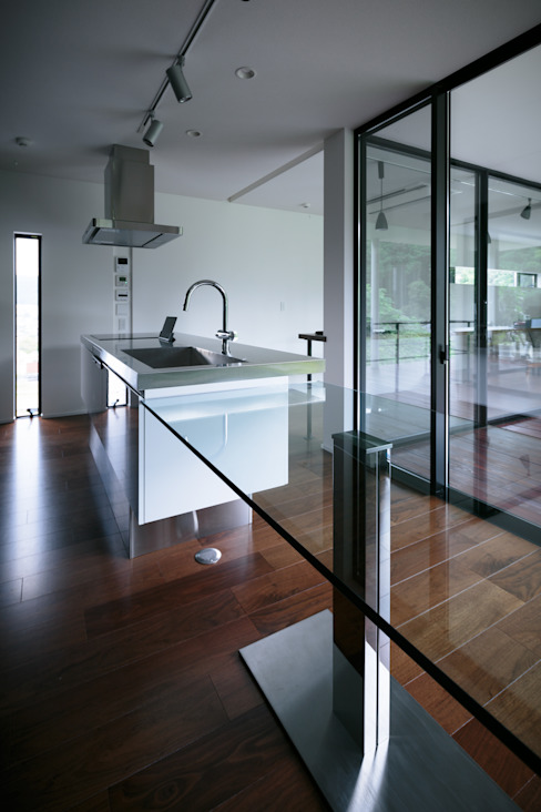 眺望の家 一級建築士事務所 株式会社KADeL モダンな キッチン