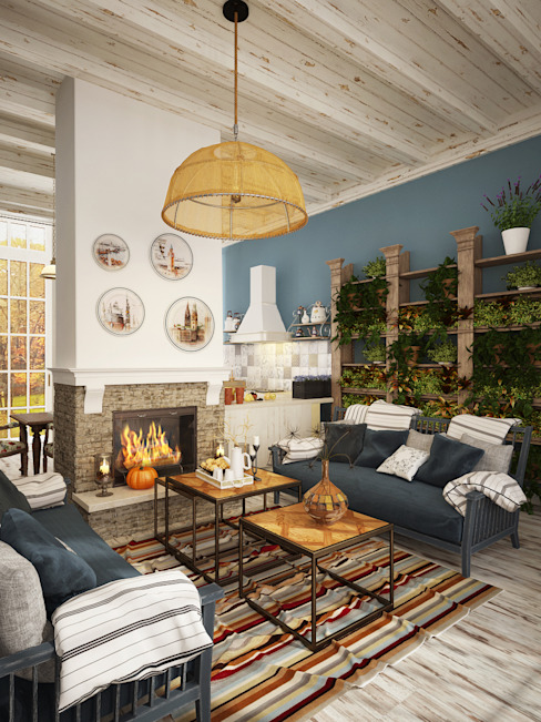 Living room by homify, Rustic