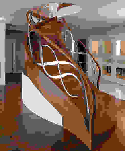 الممر الحديث، المدخل و الدرج من Trąbczyński حداثي خشب Wood effect