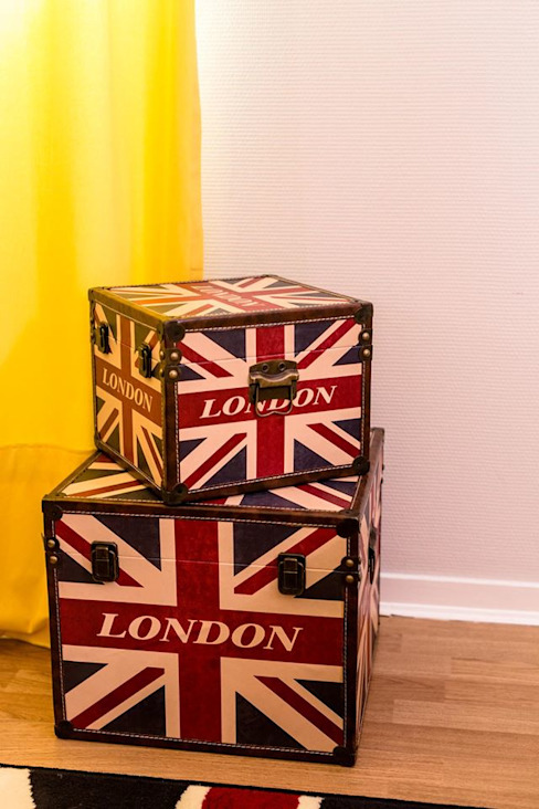 MALLES BRITISH CHAMBRE UNDERGROUND Chambre industrielle par MJ Home Industriel