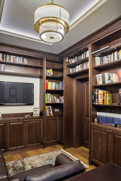 RS Studio Projektowe Roland Stańczyk Classic style study/office Wood Brown