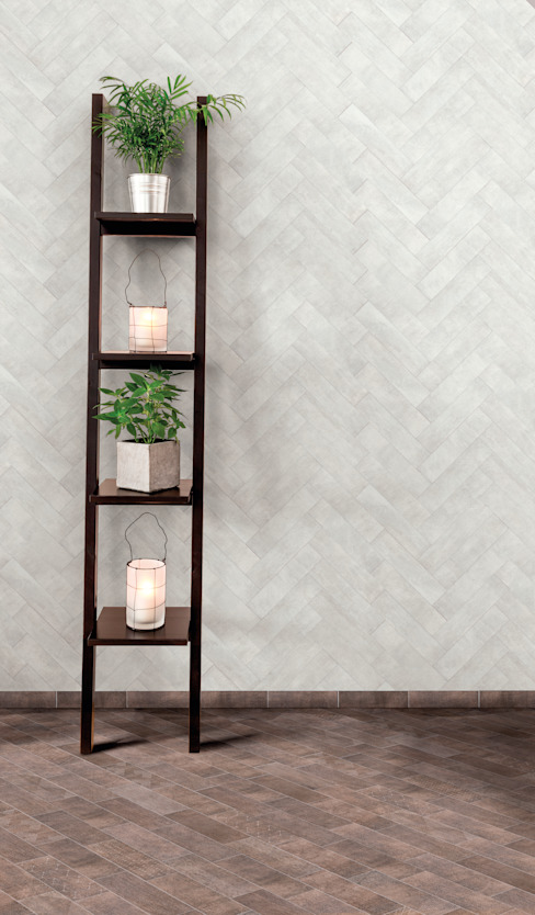 Jamestown White & Brown de The London Tile Co. Moderno