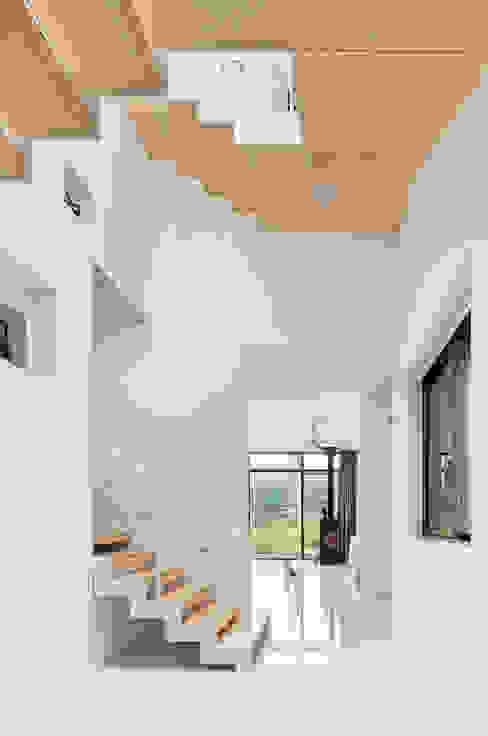 Modern corridor, hallway & stairs by aandd architecture and design lab. Modern