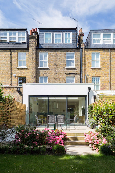 Fulham House Modern balcony, veranda & terrace by Frost Architects Ltd Modern