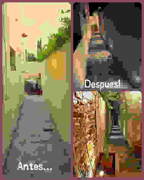 ห้องโถงทางเดินและบันไดสมัยใหม่ โดย LAS MARIAS casa & jardin โมเดิร์น