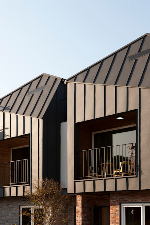 Moderne huizen van 리슈건축 Modern
