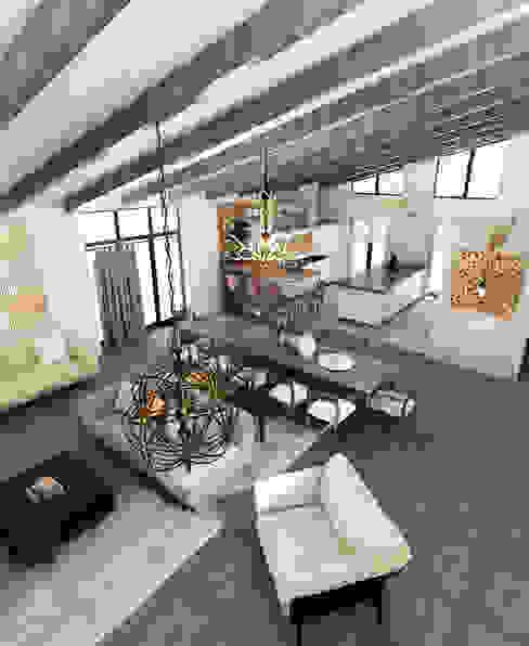 Интерьер загородного дома Столовая комната в эклектичном стиле от AnARCHI Эклектичный