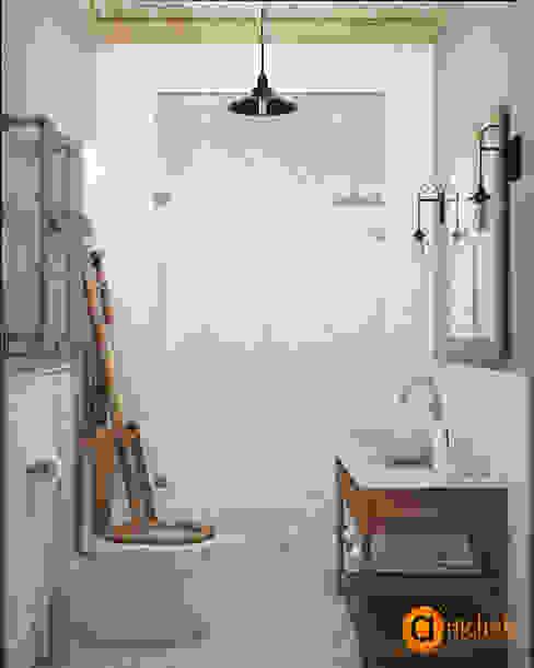 Industrial style bathroom by Artichok Design Industrial