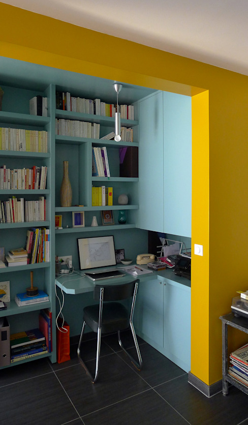 Modern Study Room and Home Office by homify Modern MDF