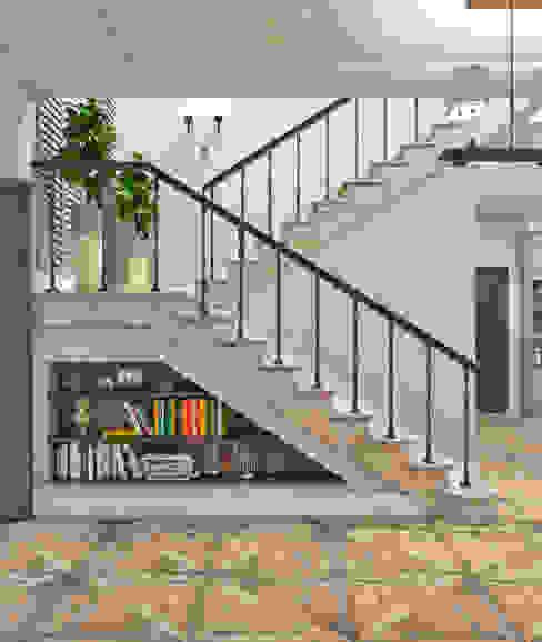 """Холл """"La brise maritime"""" Коридор, прихожая и лестница в средиземноморском стиле от Студия дизайна Дарьи Одарюк Средиземноморский"""