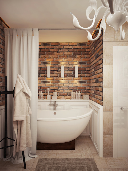 homify Industrial style bathroom