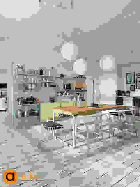 스칸디나비아 주방 by Artichok Design 북유럽
