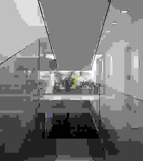 الممر الحديث، المدخل و الدرج من MOM - Atelier de Arquitectura e Design, Lda حداثي